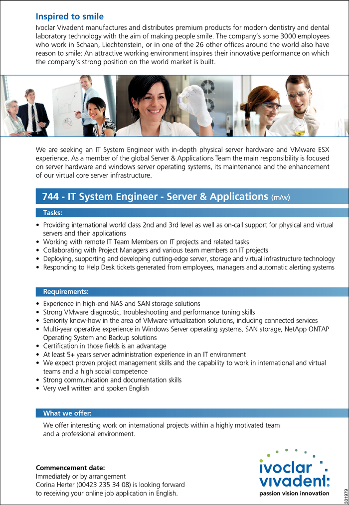 IT System Engineer