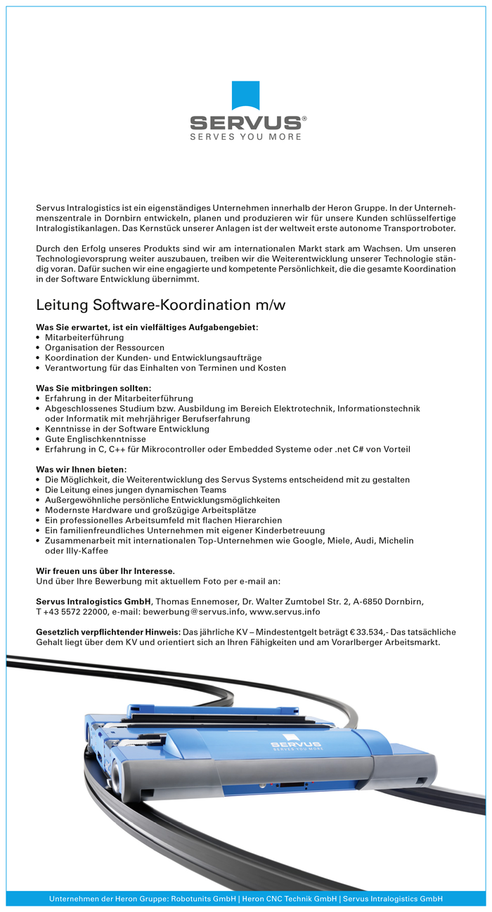 Leitung Software-Koordination m/w