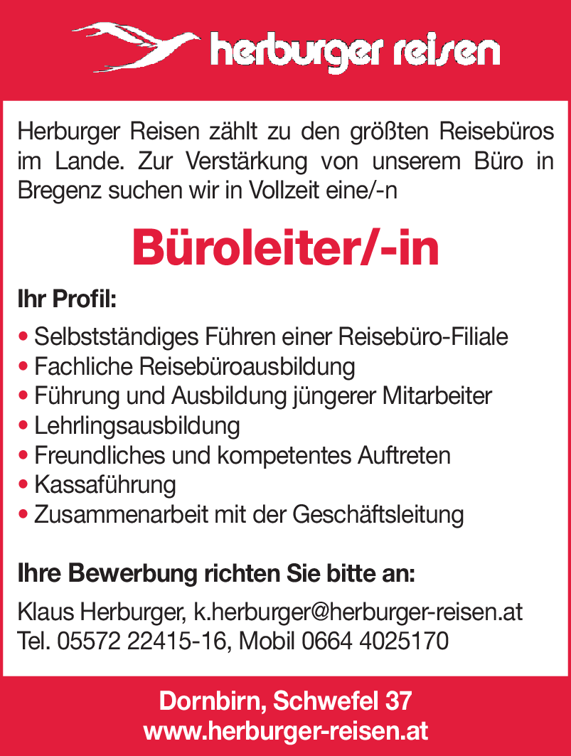 Büroleiter/-in