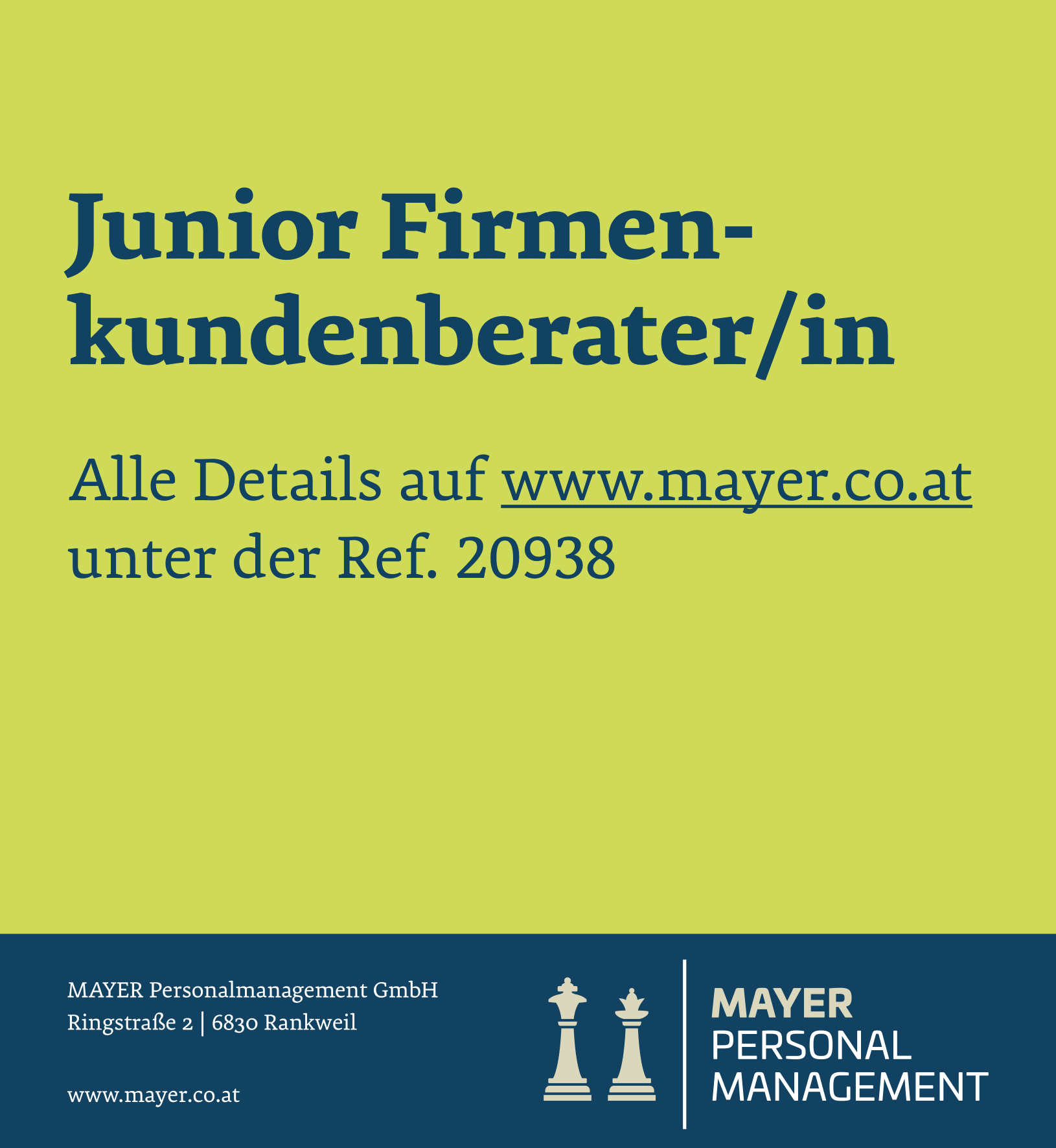 Junior Firmenkundenberater/in