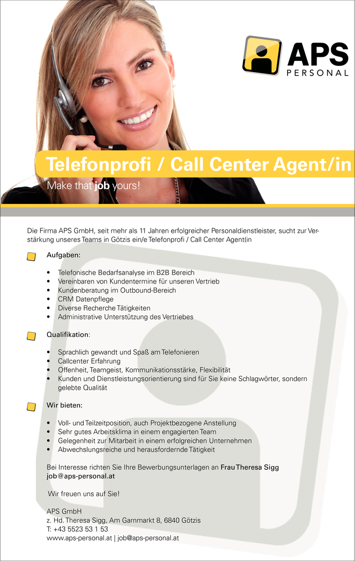 Telefonprofi / Call Center Agent / Telefonmarketing m/w
