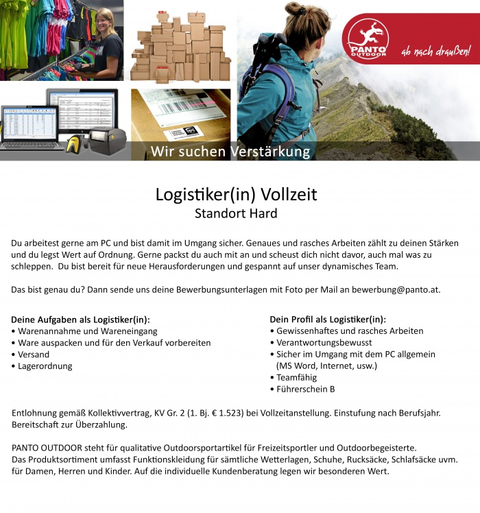 Lagerist(in) im Outdoor-Sport-Shop