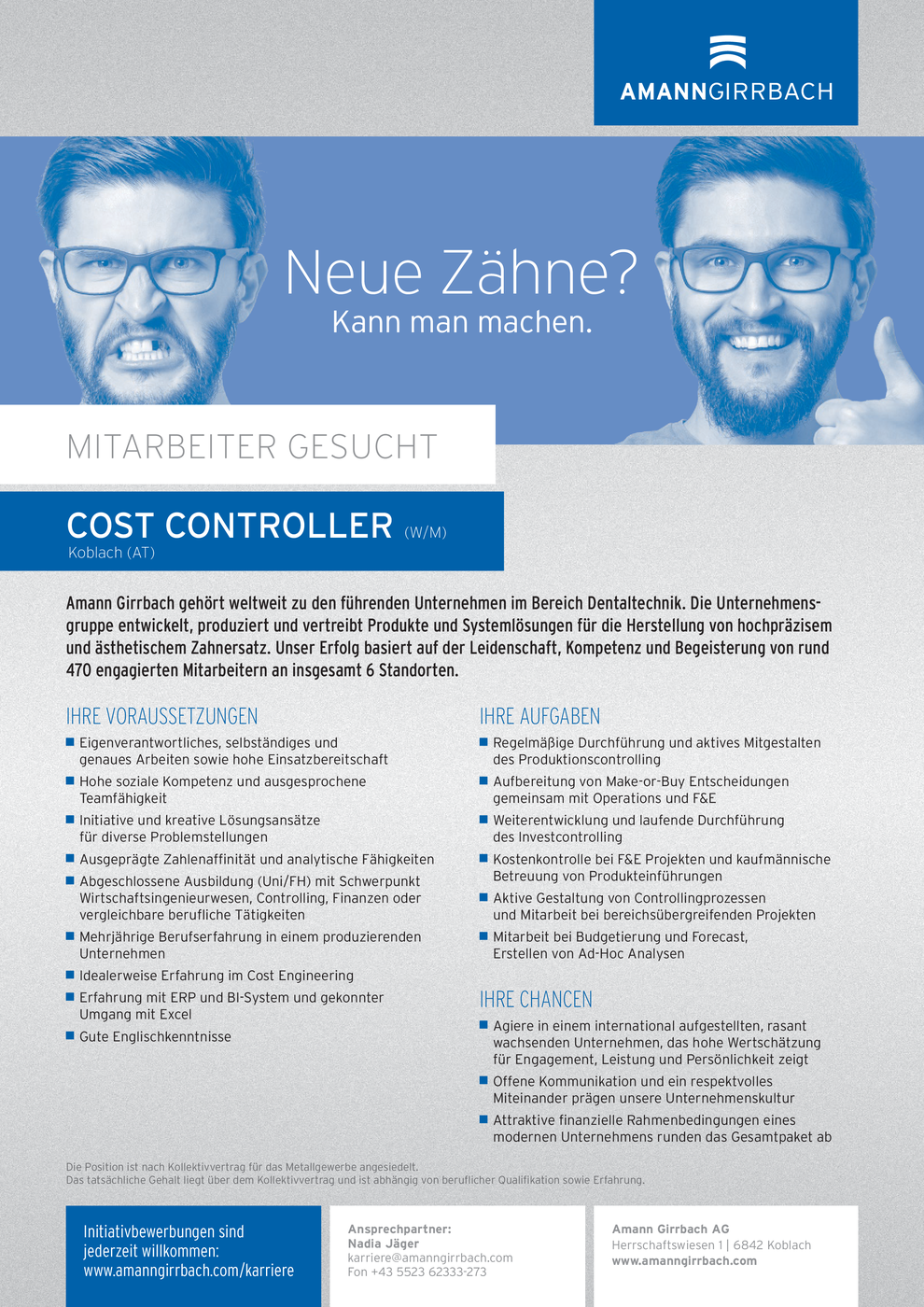 COST CONTROLLER (w/m)