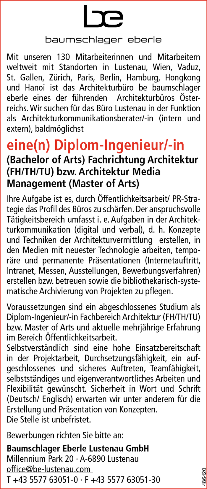 Diplom-Ingenieur/in