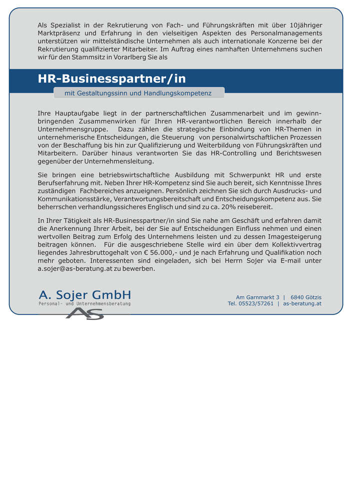 HR Businesspartner