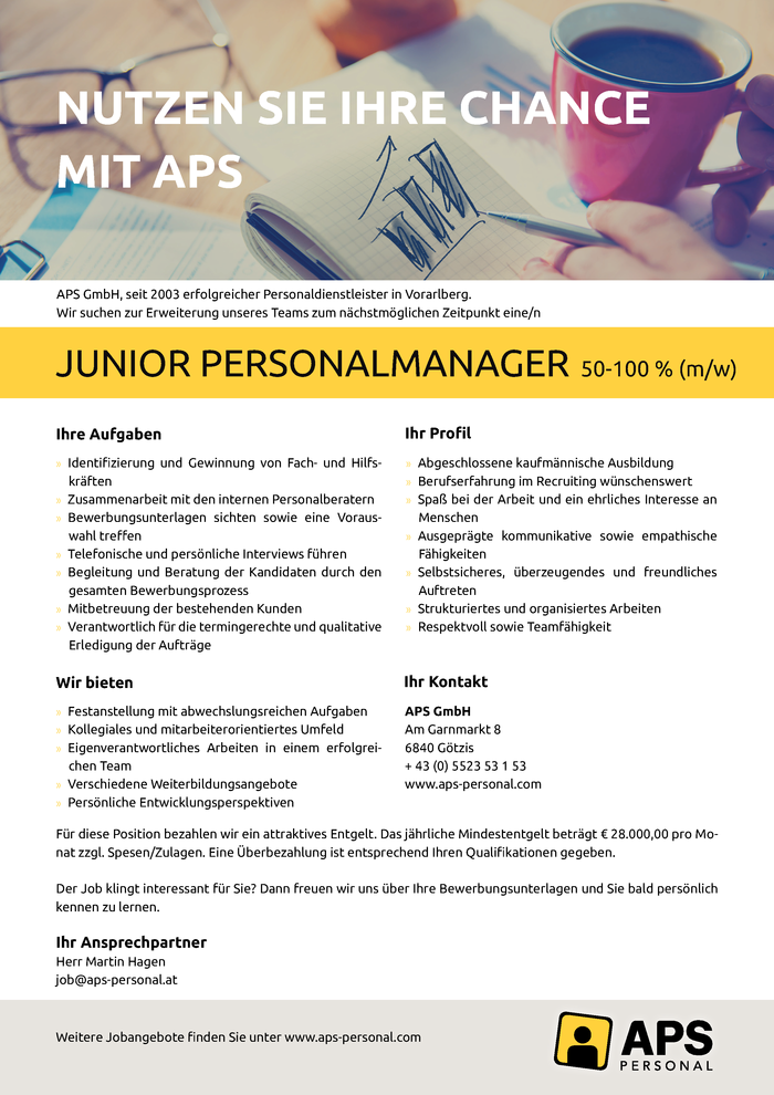 Junior Personalmanager (m/w)