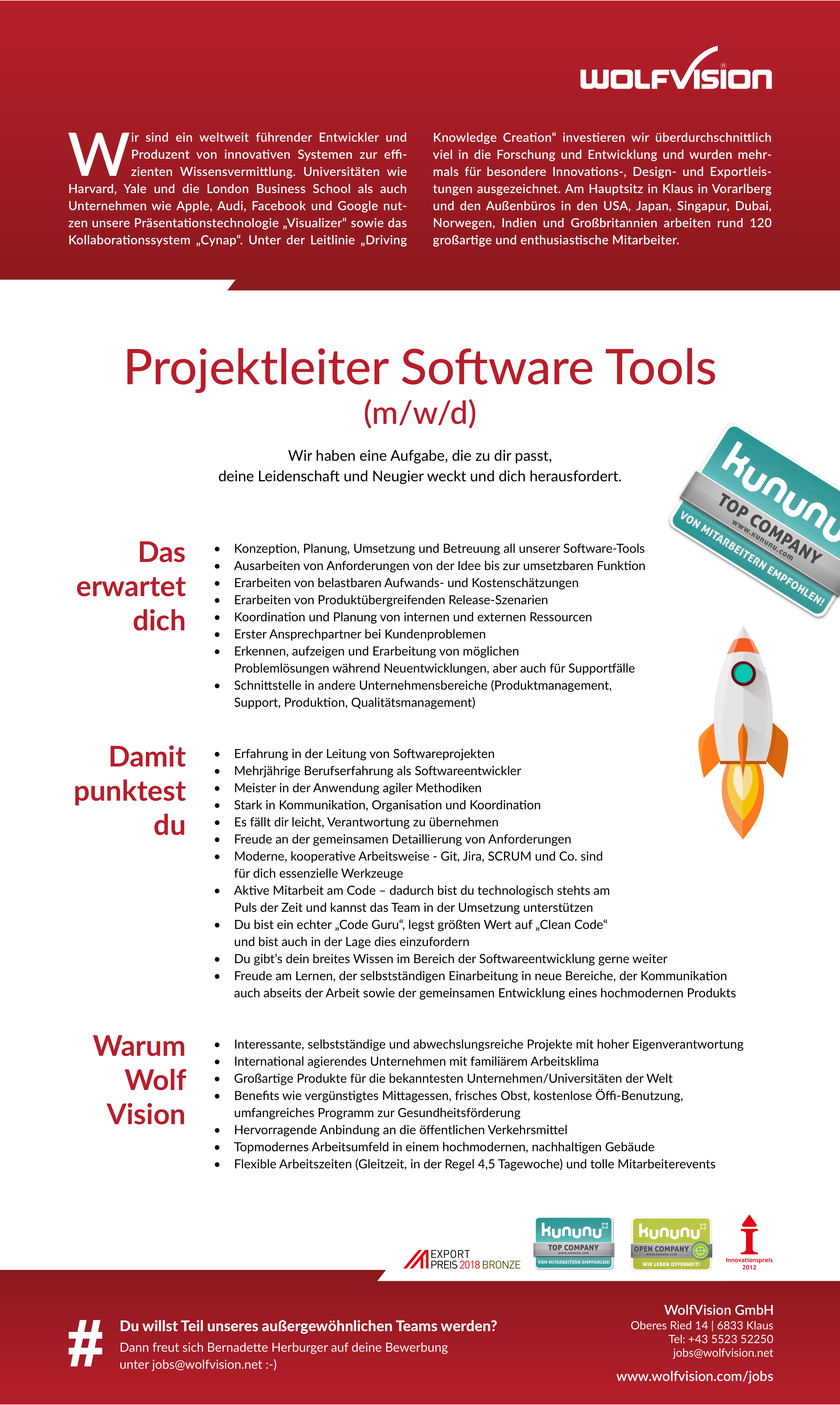 Projektleiter Software Tools (m/w/d)