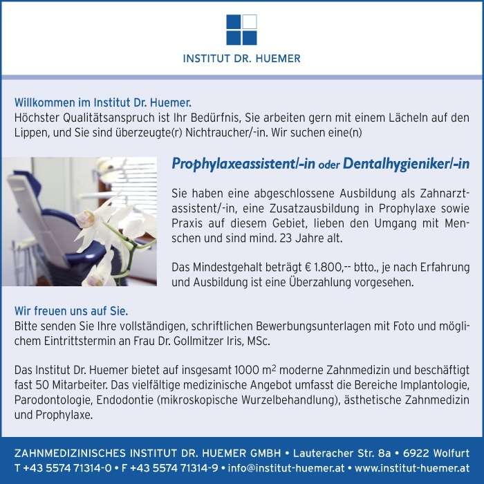 Prophylaxeassistent/in, Dentalhygieniker/in