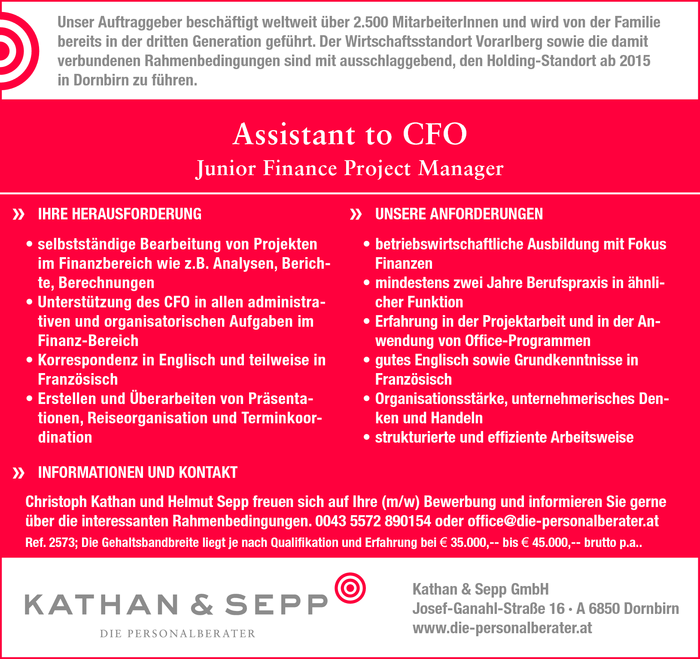 assistant-to-cfo