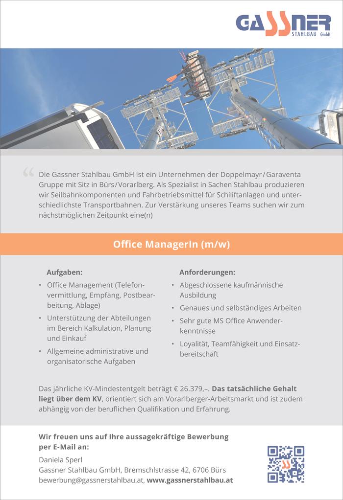 Office ManagerIn (m/w)
