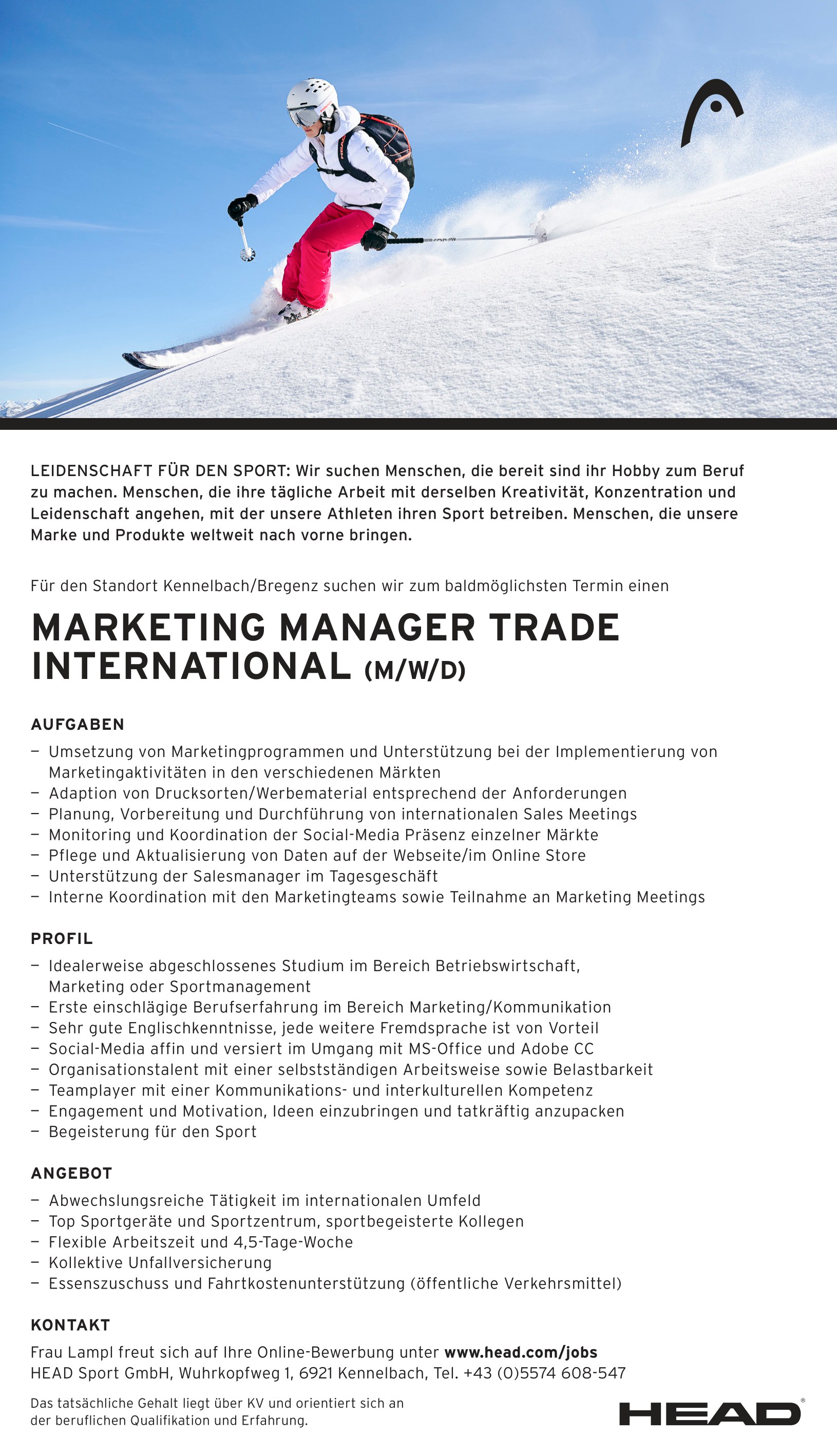 MARKETING MANAGER TRADE INTERNATIONAL (M/W/D)