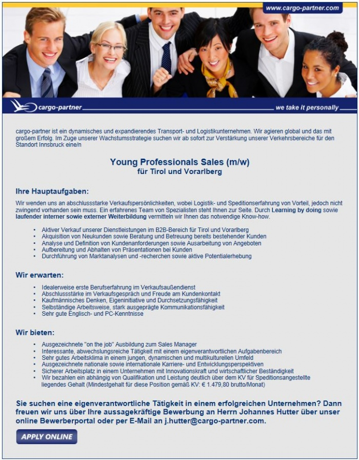 Young Professionals Sales (m/w)