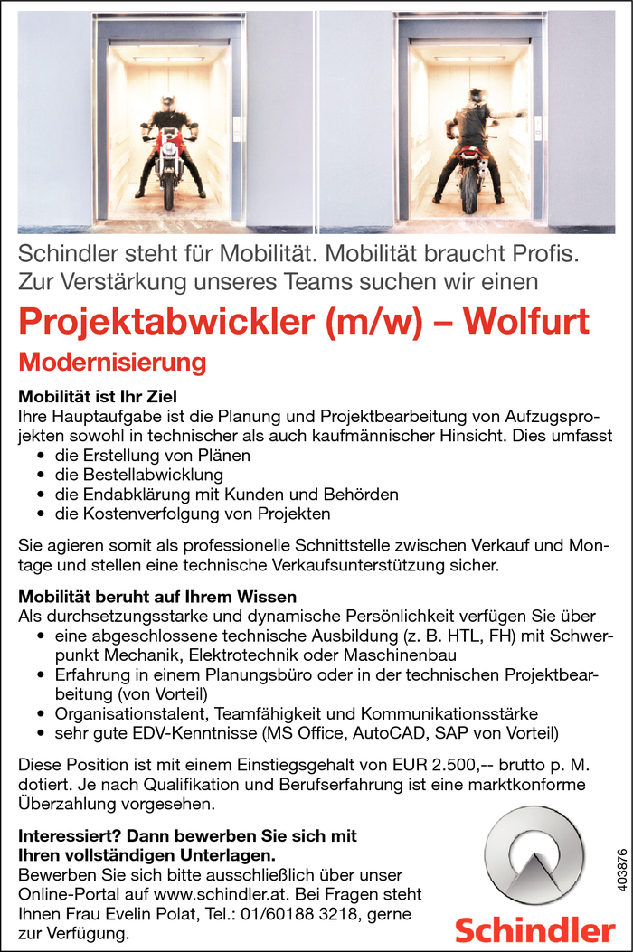 Projektabwickler/in
