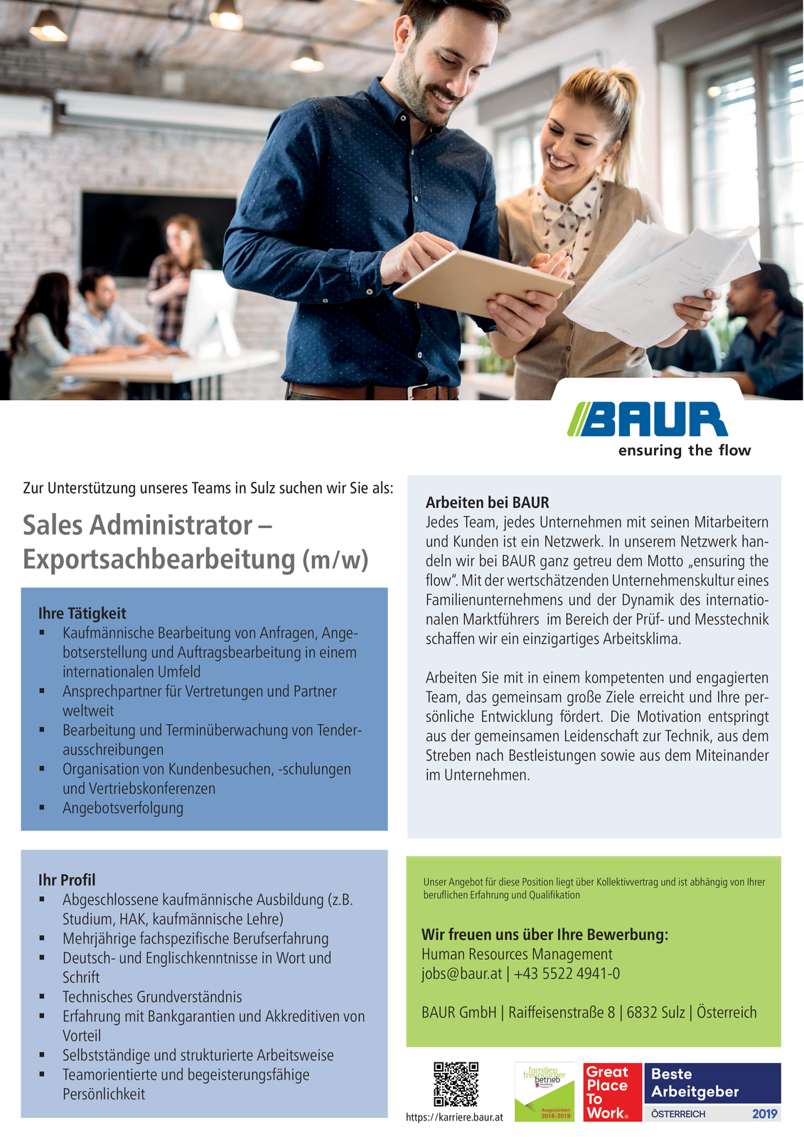 Sales Administrator - Exportsachbearbeitung (m/w)