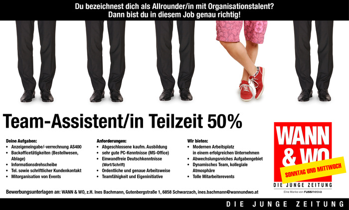 Team-Assistent/in Teilzeit 50%
