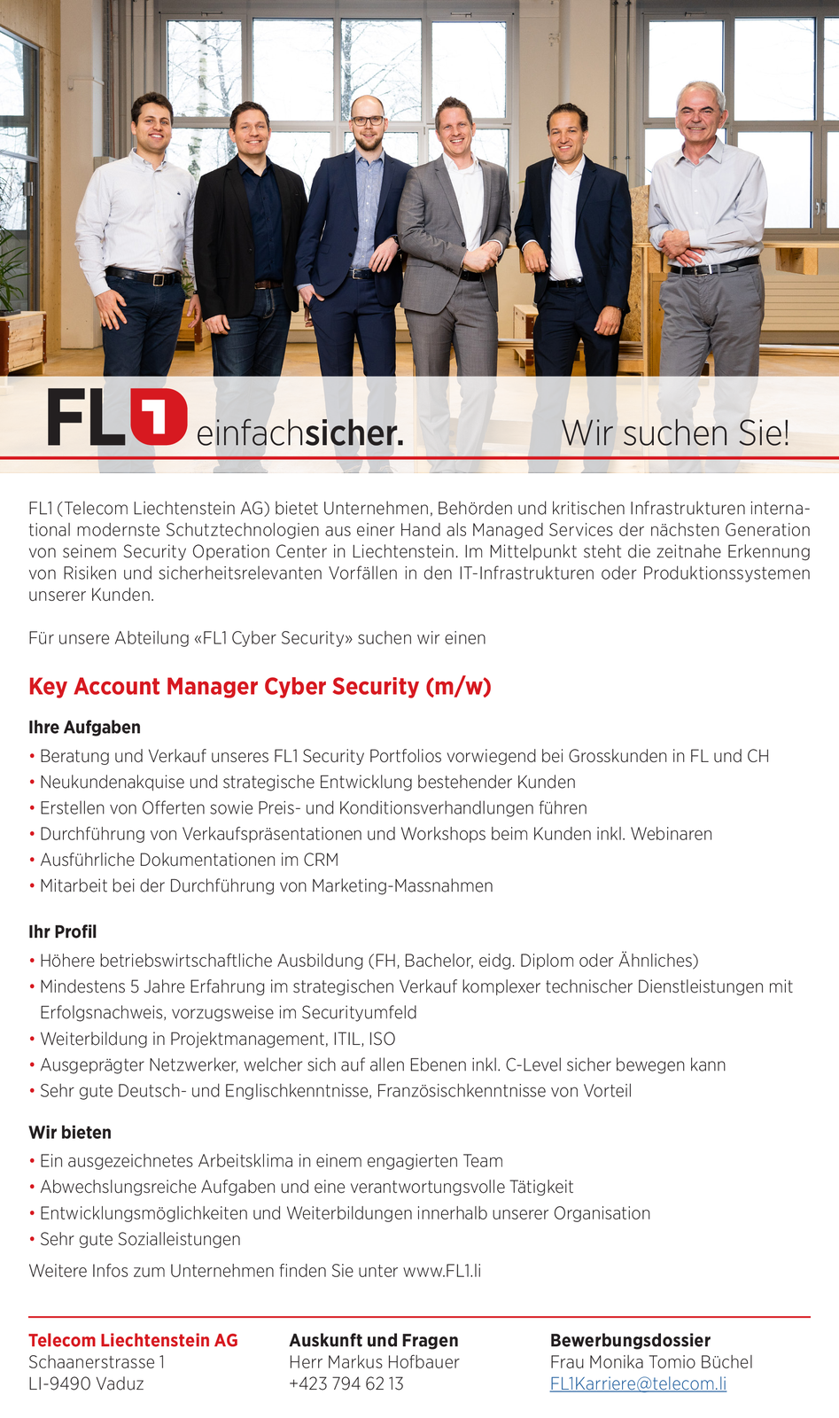 Key Account Manager Cyber Security (m/w)