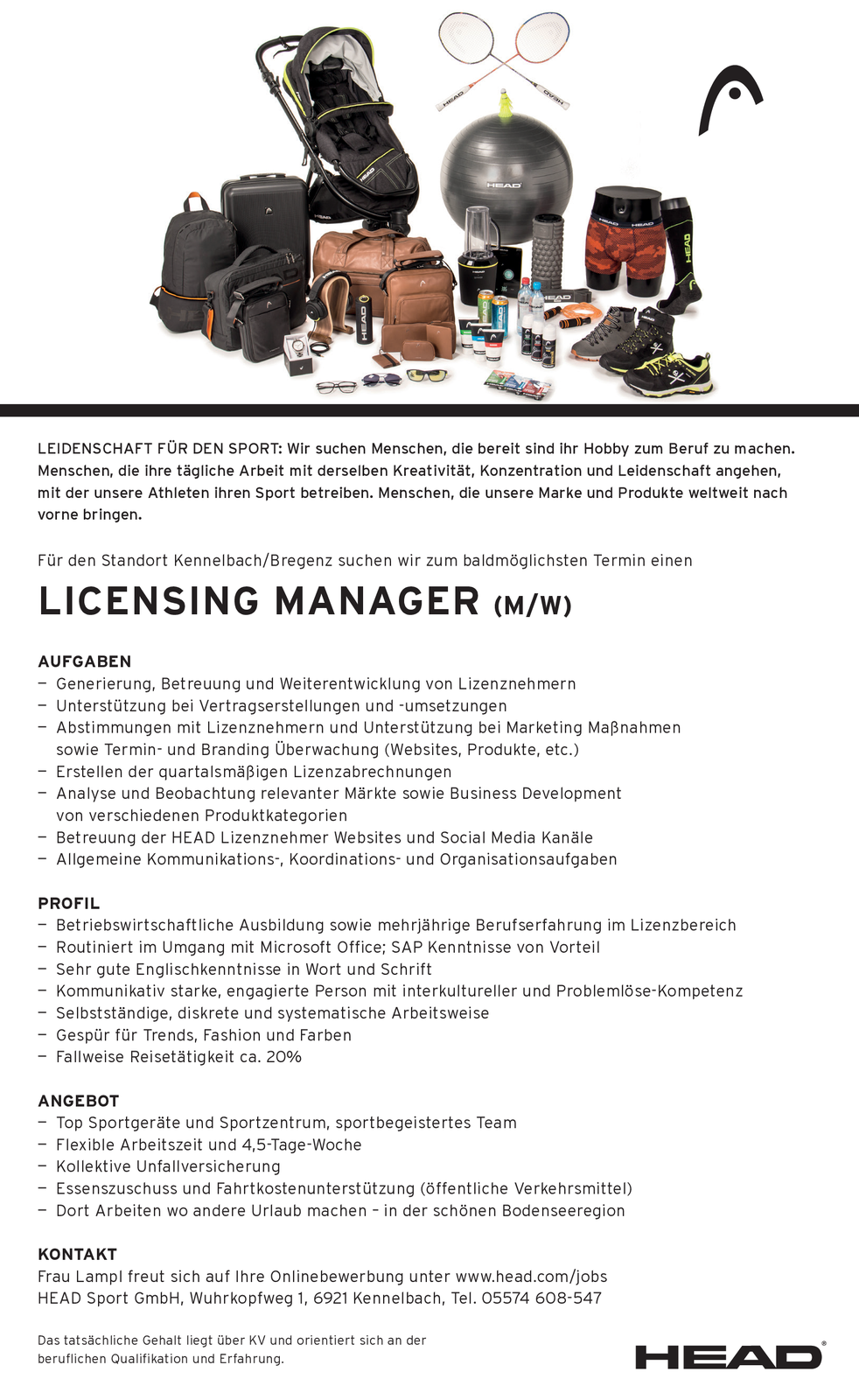 LICENSING MANAGER (M/W)
