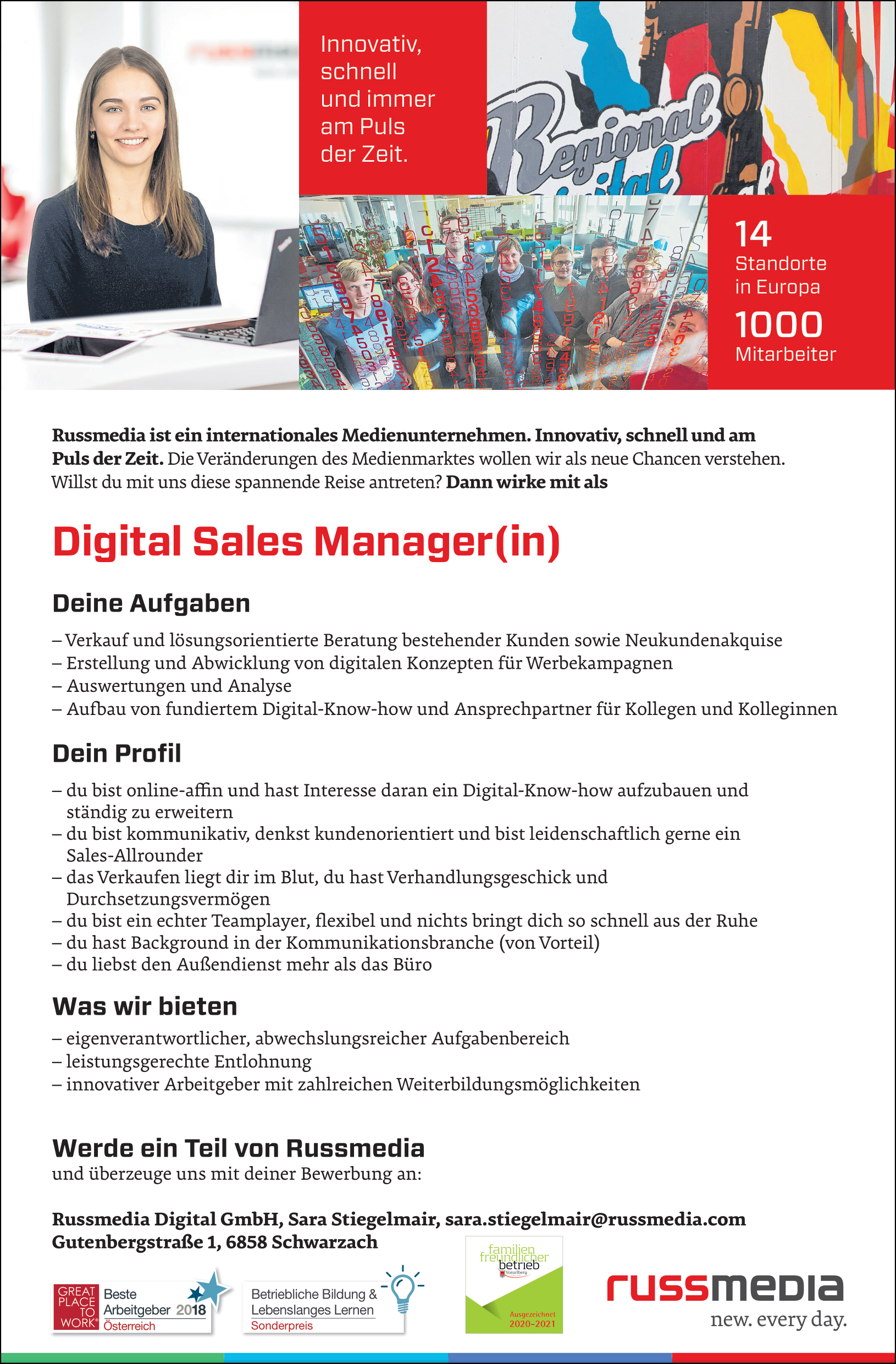 Digital Sales Manager(in)