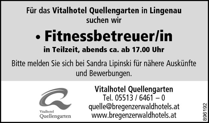 fitnessbetreuer in bregenzerwald jobs in vorarlberg. Black Bedroom Furniture Sets. Home Design Ideas