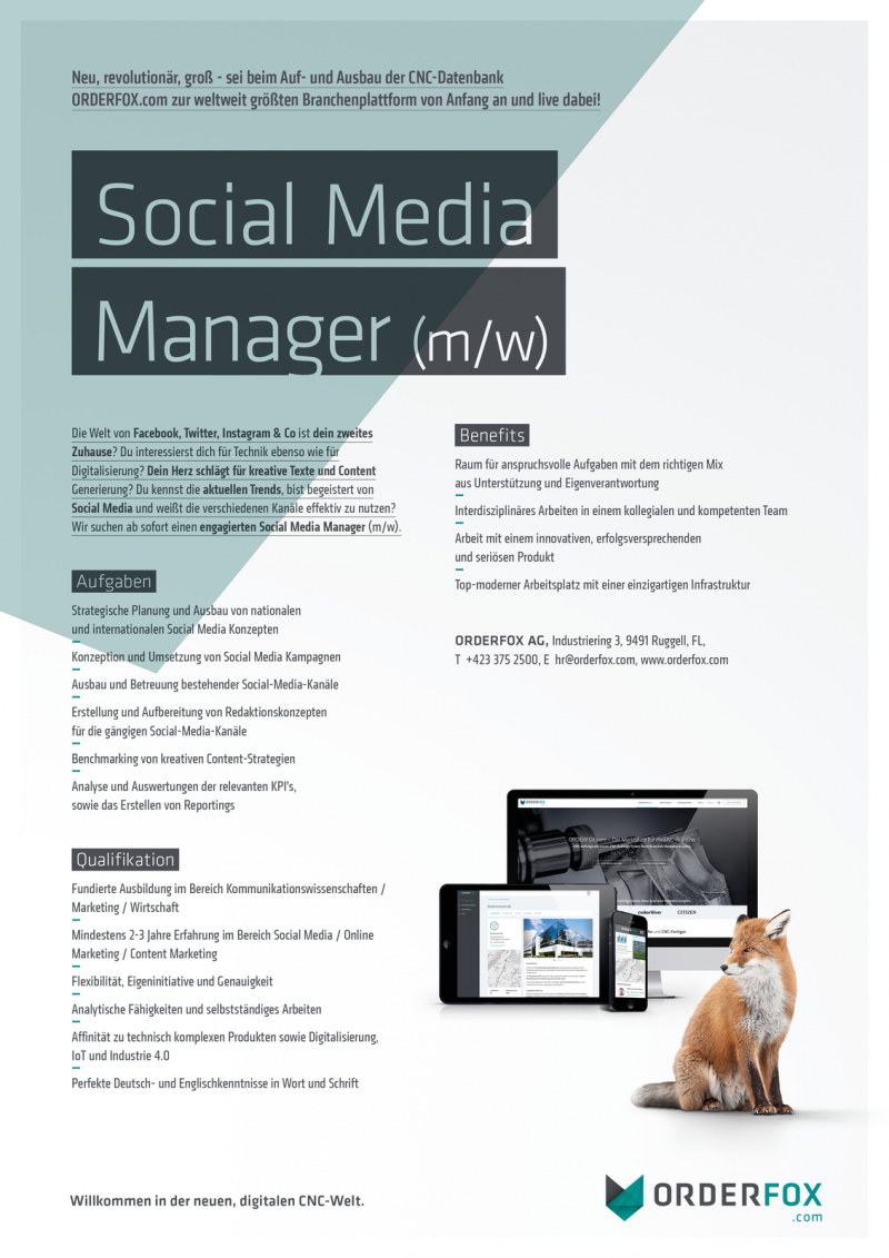 Social Media Manager (m/w)