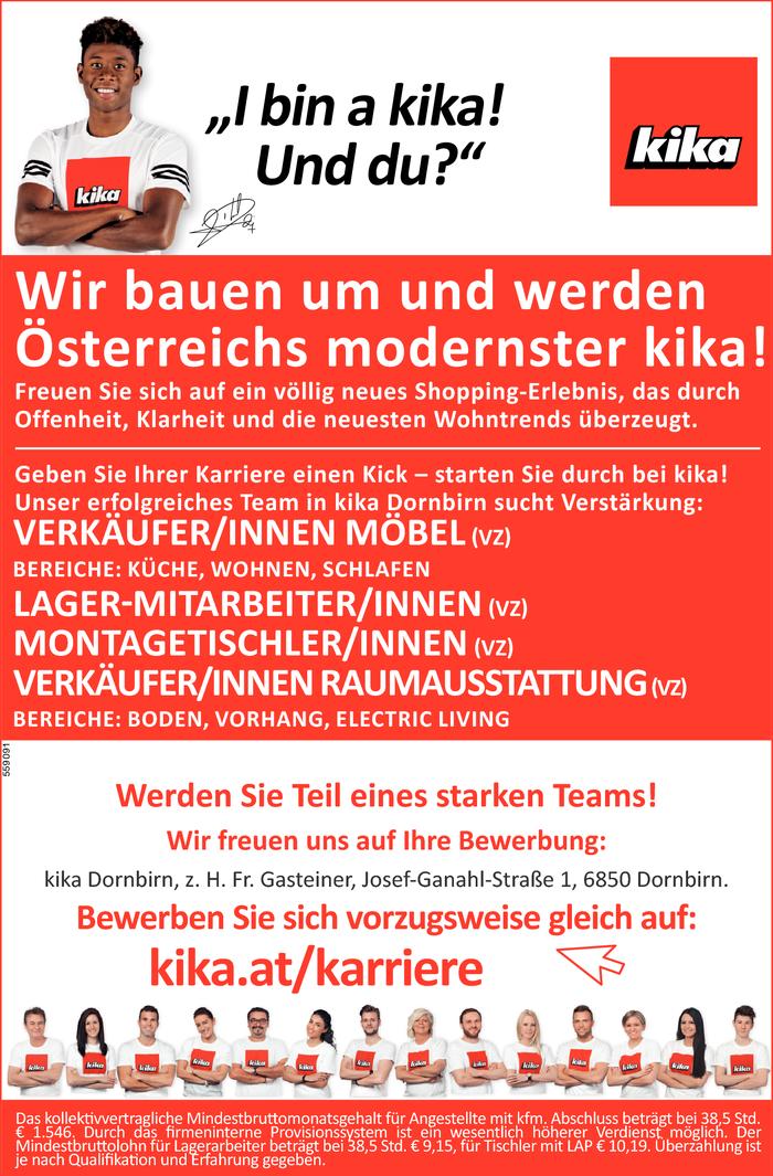 Verkäufer/Innen Möbel (Vz), Lager-Mitarbeiter/Innen