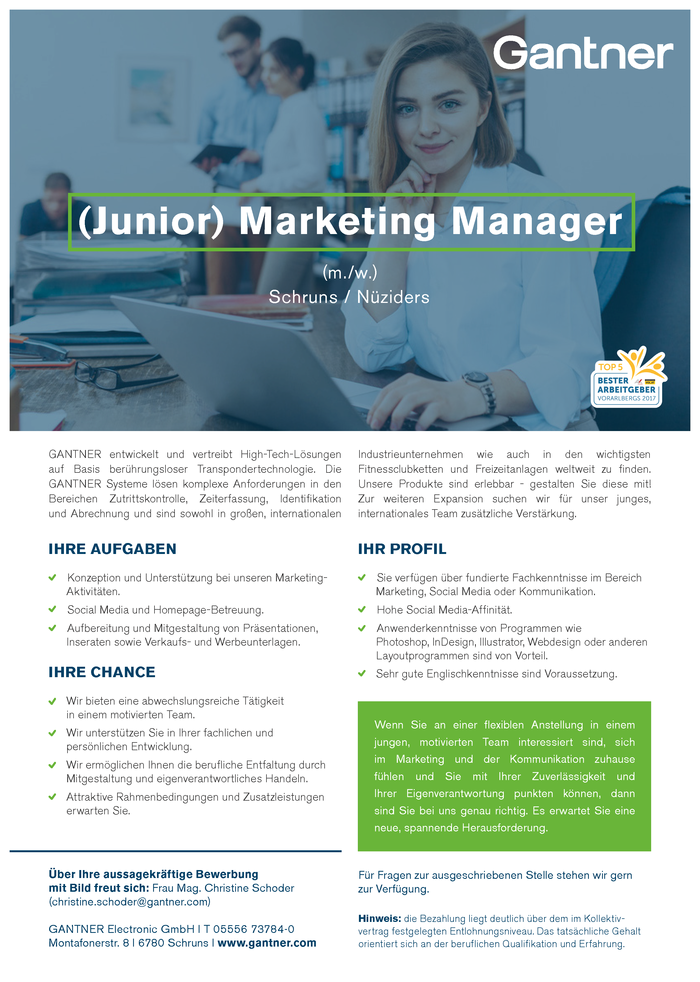 (Junior) Marketing Manager (m./w.)