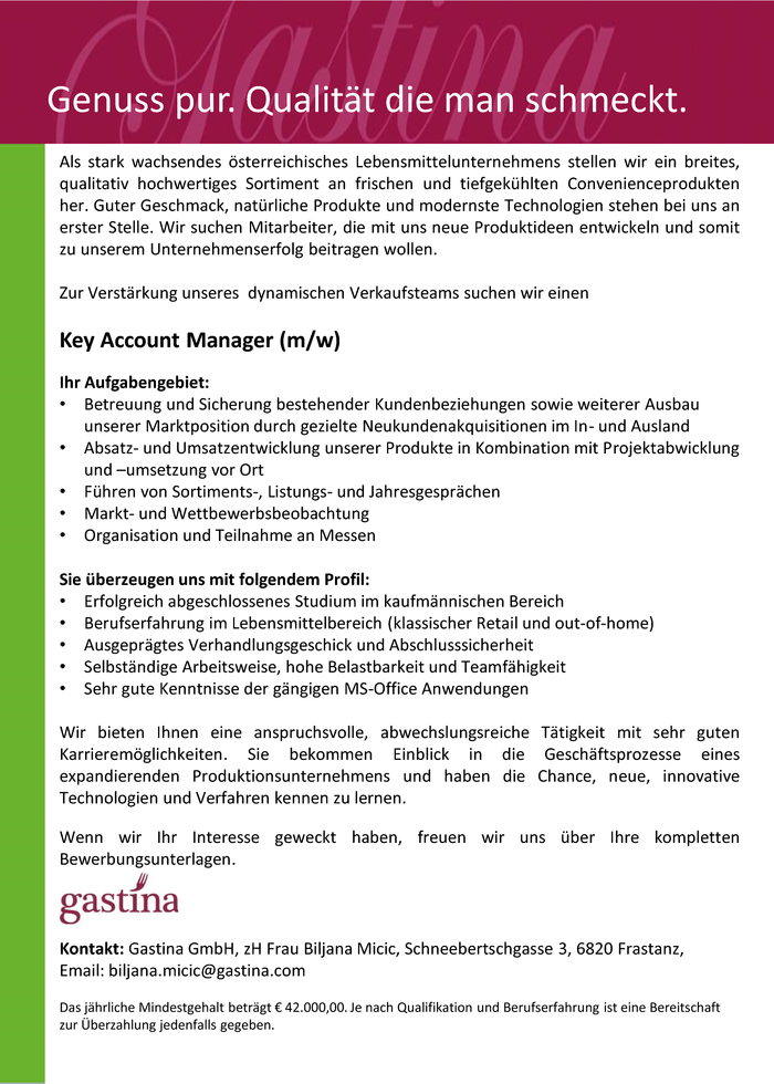 Key Account Manager (m/w)