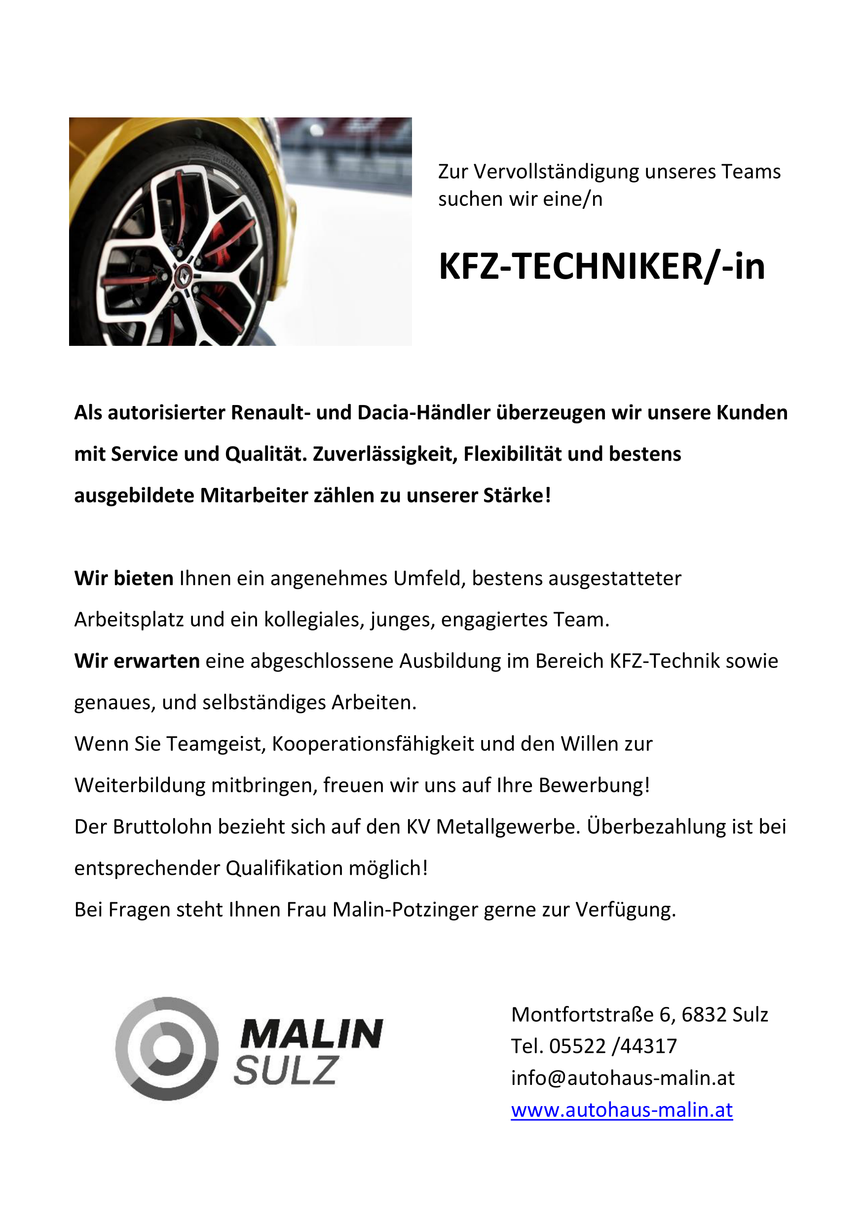 KFZ - Techniker/in