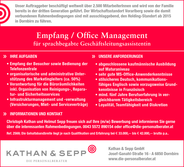Empfang / Office Management
