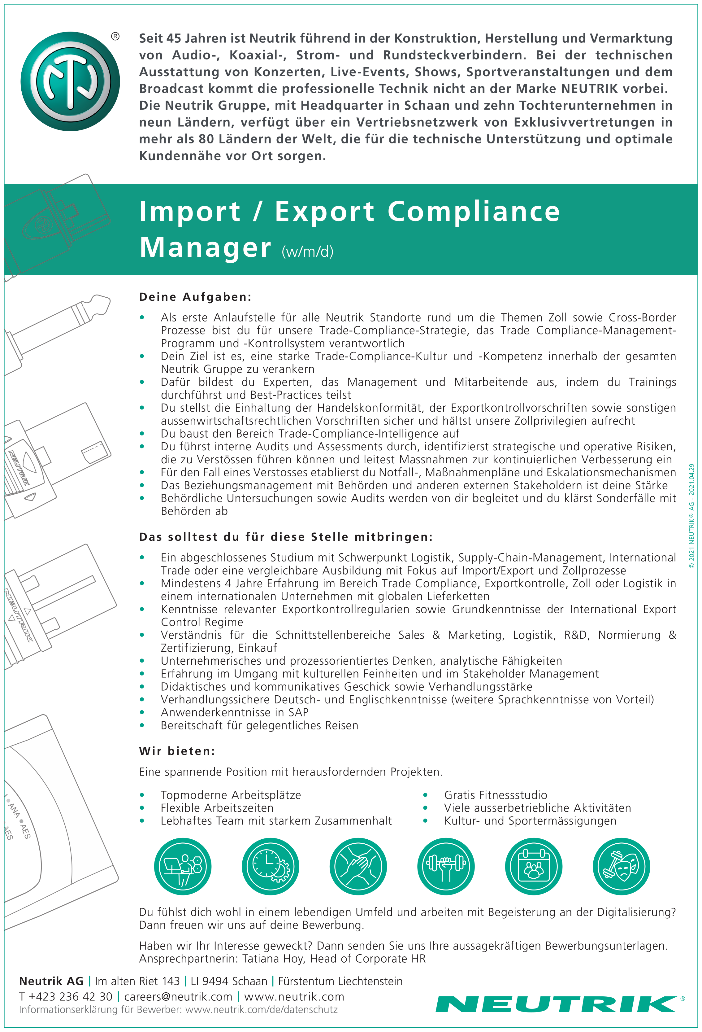 Import / Export Compliance Manager (w/m/d)