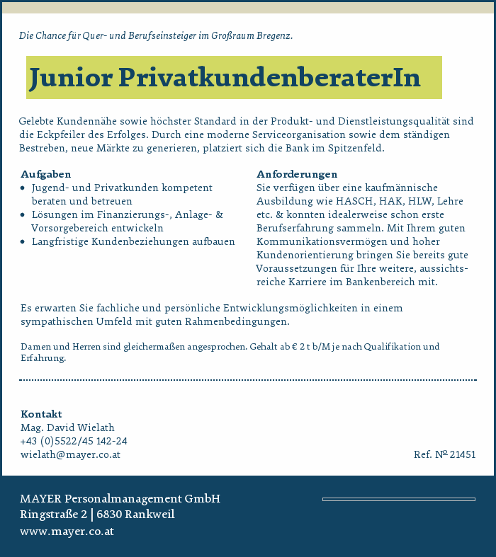 junior-privatkundenberaterin
