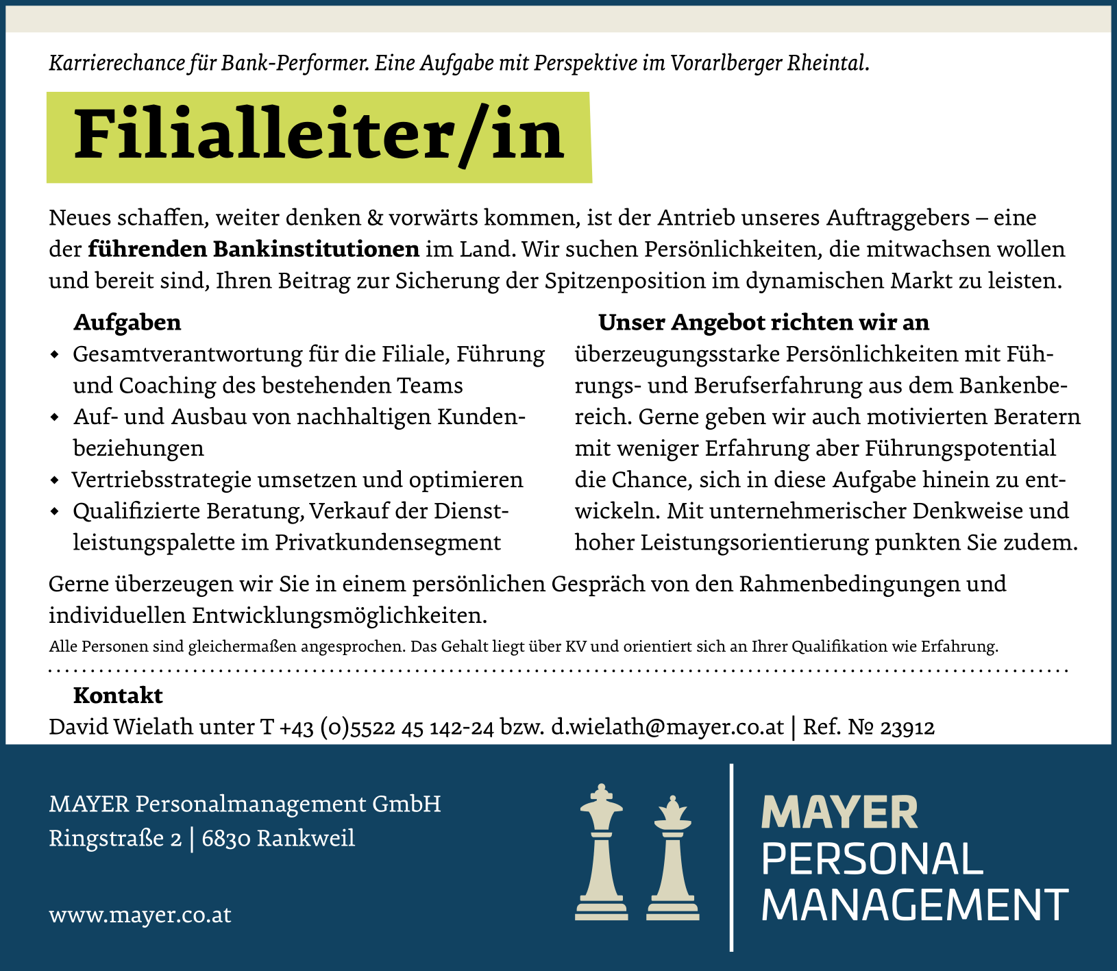 Filialleiter/in